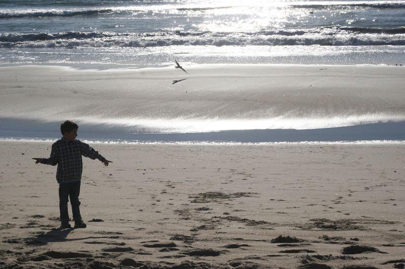 Seth at the beach