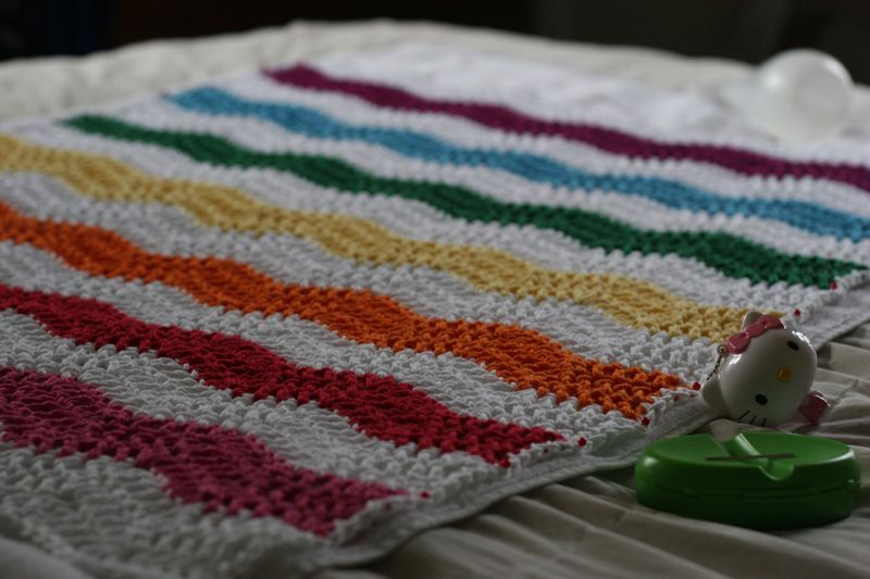 Ripple doll blanket