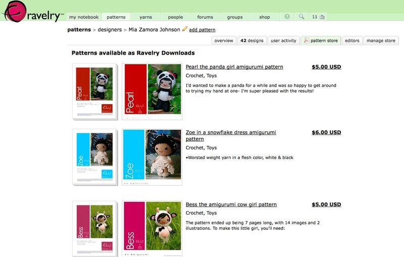 Ravelry store screen shot
